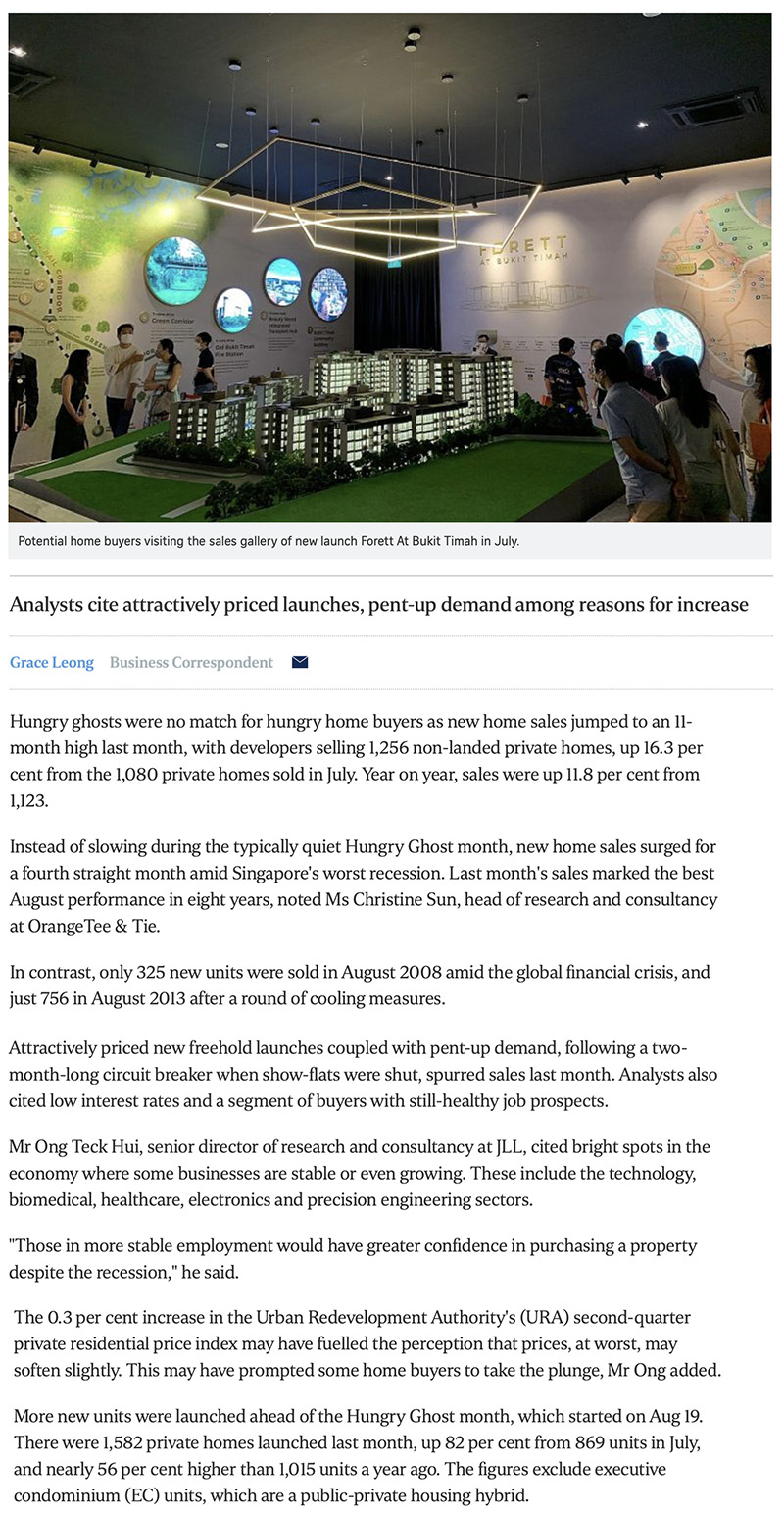 Peak Residence - New home sales surge to 11-month high in August 1