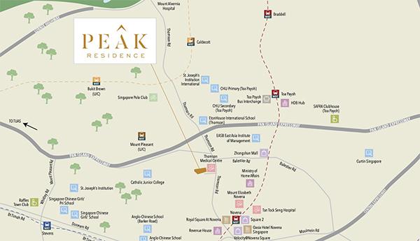 Peak Residence Location Map Thumbnail